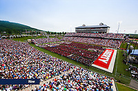 Visitors fill Williams Stadium for Commencement on May 9, 2015, in celebration of Liberty's 42nd graduating class.