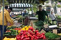 Farmer's Market in Copley Square on St. James Street Boston MA