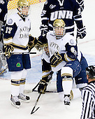 Billy Maday (Notre Dame - 17), Riley Sheahan (Notre Dame - 4), Anders Lee (Notre Dame - 9) - The University of Notre Dame Fighting Irish defeated the University of New Hampshire Wildcats 2-1 in the NCAA Northeast Regional Final on Sunday, March 27, 2011, at Verizon Wireless Arena in Manchester, New Hampshire.