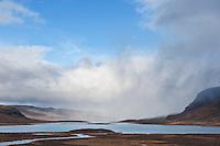 Lake Alisjavri viewed from Alesjaure hut, Kungsleden trail, Lapland, Sweden