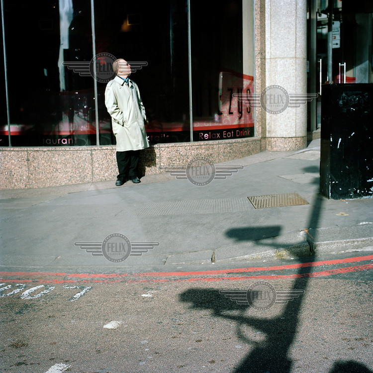 Shadows cast by cameras in central London. In the UK the use of Closed Circuit Television (CCTV) for surveillance and crime control has grown to unprecedented levels, making the UK the most 'watched' nation on earth.