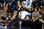 11 September 2015: Stanford's Kelsey Humphreys. The Duke University Devils hosted the Stanford University Cardinal at Cameron Indoor Stadium in Durham, NC in a 2015 NCAA Division I Women's Volleyball contest. Stanford won the match 3-2 (17-25, 25-22, 17-25, 25-23, 10-15).