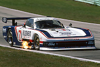 ELKHART LAKE, WI - AUGUST 26: Bobby Rahal drives the Ford Mustang GTP during the Budweiser 500 IMSA GT race at the Road America track near Elkhart Lake, Wisconsin, on August 26, 1984.