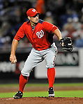 5 March 2012: Washington Nationals pitcher Craig Stammen in action during a Spring Training game against the New York Mets at Digital Domain Park in Port St. Lucie, Florida. The Nationals defeated the Mets 3-1 in Grapefruit League play. Mandatory Credit: Ed Wolfstein Photo