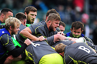 Ed Slater of Leicester Tigers in action during the pre-match warm-up. Aviva Premiership match, between Saracens and Leicester Tigers on October 29, 2016 at Allianz Park in London, England. Photo by: Patrick Khachfe / JMP