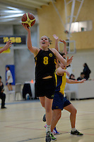 Action from the Basketball Girls Premier - Sharp Cup at ASB Sports Centre, Kilbirnie, Wellington, New Zealand on Friday 30 May 2014. <br /> Photo by Masanori Udagawa. <br /> www.photowellington.photoshelter.com.