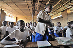 Students in a school sponsored by the United Methodist Church in the village of Wembo Nyama, DR Congo.