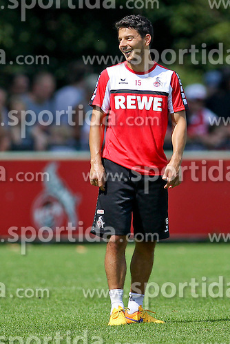16.07.2015, Geissbockheim, Koeln, GER, 1. FBL, 1. FC Koeln, Training, im Bild Neuzugang Philipp Hosiner (1. FC Koeln #15) // during a practice session of German Bundesliga Club 1. FC Cologne at the Geissbockheim in Koeln, Germany on 2015/07/16. EXPA Pictures &copy; 2015, PhotoCredit: EXPA/ Eibner-Pressefoto/ Schueler<br /> <br /> *****ATTENTION - OUT of GER*****