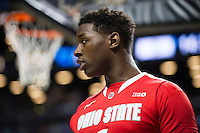 BROOKLYN, NY - Saturday December 19, 2015: Jae'Sean Tate (#1) of Ohio State and his Buckeyes take on the Kentucky Wildcats as the two teams square off in the CBS Classic at Barclays Center in Brooklyn, NY.