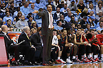 15 November 2015: Fairfield head coach Sydney Johnson. The University of North Carolina Tar Heels hosted the Fairfield University Stags at the Dean E. Smith Center in Chapel Hill, North Carolina in a 2015-16 NCAA Division I Men's Basketball game. UNC won the game 92-65.