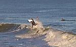 East Coast surfing in Folly Beach