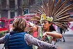 Mexico, Mexico City, Aztec Dancer, Headdress, Penachos, Danza Azteca, Spiritual Cleansing