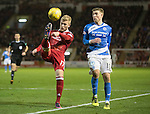 Aberdeen v St Johnstone&hellip;10.12.16     Pittodrie    SPFL<br />Jayden Stockley clears from David Wotherspoon<br />Picture by Graeme Hart.<br />Copyright Perthshire Picture Agency<br />Tel: 01738 623350  Mobile: 07990 594431