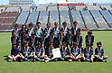 Tokiwagi Gakuen team group,.AUGUST 10, 2004 - Football / Soccer :.Runners-up Tokiwagi Gakuen players pose for a team photo with their silver medals after the 13th All Japan High School Women's Soccer Tournament final match between Tokiwagi Gakuen 1-2 Kamimura Gakuen at Yamaha Stadium in Iwata, Shizuoka, Japan. (Photo by AFLO).Aya Sameshima (Top row, 3rd R)