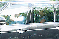 Kate, Duchess of Cambridge Prince William & baby arrive at the Middleton's home - UK