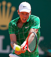 Tomas BERDYCH (CZE) against Fernando VERDASCO (ESP) in the third round. Fernando Verdasco beat Tomas Berdych 5-7 6-3 6-2..International Tennis - 2010 ATP World Tour - Masters 1000 - Monte-Carlo Rolex Masters - Monte-Carlo Country Club - Alpes-Maritimes - France..© AMN Images, Barry House, 20-22 Worple Road, London, SW19 4DH.Tel -  + 44 20 8947 0100.Fax - + 44 20 8947 0117