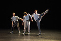 "London, UK. 15.04.2014. HeadSpaceDance present IF PLAY IS PLAY..., a triple bill of new work, in the Linbury Studio, Royal Opera House, London. Picture shows: Clemmie Sveaas, Christopher Akrill and Jonathan Goddard, in ""Before the Interval"".  Photograph © Jane Hobson."