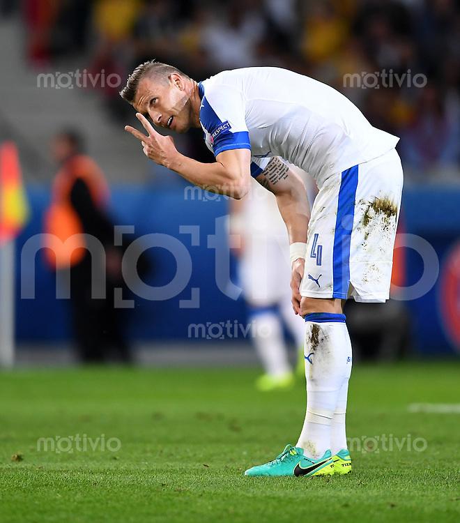 FUSSBALL EURO 2016 GRUPPE B IN LILLE Russland - Slowakei     15.06.2016 Jan Durica (Slowakei)