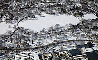 aerial photograph Central Park in winter, Manhattan, New York City