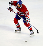 22 November 2008: Montreal Canadiens' defenseman Andrei Markov from Russia in action against the Boston Bruins during the first period at the Bell Centre in Montreal, Quebec, Canada.  After a 2-2 regulation tie and a non-scoring 5-minute overtime period, the Boston Bruins scored the lone shootout goal thus defeating the Canadiens 3-2. The Canadiens, celebrating their 100th season, honored former Montreal goaltender Patrick Roy, and retired his jersey (Number 33) during pre-game ceremonies. ***** Editorial Use Only *****..Mandatory Photo Credit: Ed Wolfstein Photo *** Editorial Sales through Icon Sports Media *** www.iconsportsmedia.com