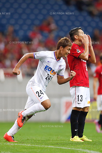Gakuto Notsuda (Sanfrecce), SEPTEMBER 7, 2014 - Football / Soccer : 2014 J.League Yamazaki Nabisco Cup Quarter final match between Urawa Reds 2-2 Sanfrecce Hiroshima at Saitama Stadium 2002 in Saitama, Japan. (Photo by AFLO SPORT)