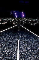 ABSTRACT ROAD AND LIGHTNING