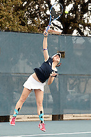 SAN ANTONIO, TX - FEBRUARY 1, 2014: The McNeese State University Cowgirls versus the University of Texas at San Antonio Roadrunners Women's Tennis at the UTSA Tennis Center. (Photo by Jeff Huehn)