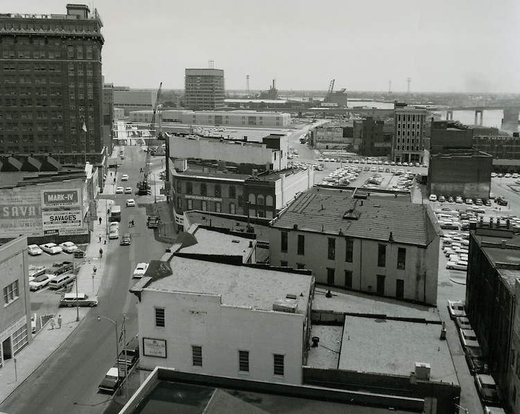 1964 May 11..Historical..Downtown South (R-9)..Looking East on Main Street from Seaboard Building..HAYCOX - R. V. Fishbeck.NEG# 64-509-12.NRHA# 3273..