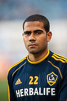 Leonardo (22) of the Los Angeles Galaxy. The Los Angeles Galaxy defeated the Philadelphia Union 4-1 during a Major League Soccer (MLS) match at PPL Park in Chester, PA, on May 15, 2013.