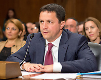 Steven A. Engel testifes before the United States Senate Committee on the Judiciary on his nomination to be an Assistant Attorney General, Office of Legal Counsel, US Department of Justice, on Capitol Hill in Washington, DC on Wednesday, May 10, 2017.<br /> Credit: Ron Sachs / CNP /MediaPunch
