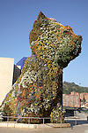 Puppy by Koons outside Guggenheim Museum; Bilbao; Basque Country; Spain