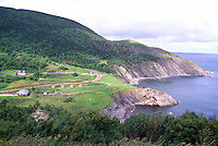 Rugged Coastline and Campground at Meat Cove, Cape Breton Island, NS, Nova Scotia, Canada - Gulf of St. Lawrence / Atlantic Ocean