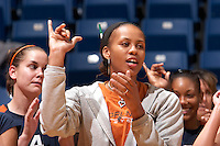 SAN ANTONIO, TX - NOVEMBER 11, 2006: The University of Texas at Arlington Mavericks vs. The University of Texas at San Antonio Roadrunners Volleyball at the UTSA Convocation Center. (Photo by Jeff Huehn)