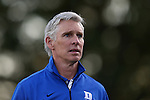 15 September 2015: Duke assistant coach Michael Brady. The Duke University Blue Devils hosted the University of North Carolina Wilmington Seahawks at Koskinen Stadium in Durham, NC in a 2015 NCAA Division I Men's Soccer match. UNCW won the game 3-0.