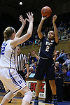 29 January 2015: Pitt's Aysia Bugg (2) and Duke's Erin Mathias (32). The Duke University Blue Devils hosted the University of Pittsburgh Panthers at Cameron Indoor Stadium in Durham, North Carolina in a 2014-15 NCAA Division I Women's Basketball game. Duke won the game 62-45.