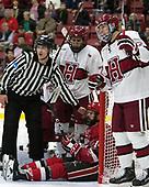 Phil Zielonka (Harvard - 72), Alexander Dahl (SLU - 14), John Marino (Harvard - 12) - The Harvard University Crimson defeated the St. Lawrence University Saints 6-3 (EN) to clinch the ECAC playoffs first seed and a share in the regular season championship on senior night, Saturday, February 25, 2017, at Bright-Landry Hockey Center in Boston, Massachusetts.