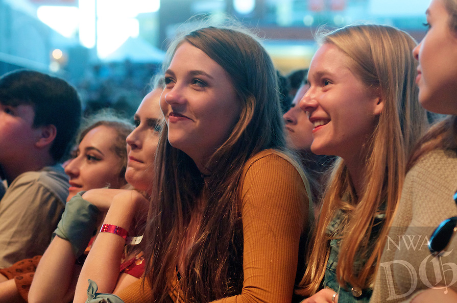 NWA Democrat-Gazette/Jocelyn Murphy<br /> Rayland Baxter, B&Oslash;RNS and The Lumineers perform for a sold out crowd Saturday, Oct. 1, 2016, at the Walmart AMP in Rogers.