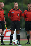 04 September 2015: Referee Brandon Marion. The Wake Forest University Demon Deacons played the William & Mary University Tribe at Dail Soccer Field in Raleigh, NC in a 2015 NCAA Division I Women's Soccer game. The game ended in a 1-1 tie.