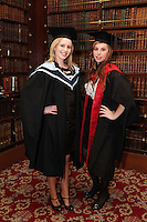 NO REPRO FEE. 25/11/2011. Independent College Dublin graduations. Pictured after graduating from Independent College Dublin are L-R  Aisling Hearns from Wicklow and Orlaith Magee from Malahide, LLM. For more info please contact Annie Leger annie.leger@independentcolleges.ieT: +353 1 635 5811Picture James Horan/Collins.