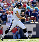 21 October 2007: Baltimore Ravens punter Sam Koch in action against the Buffalo Bills at Ralph Wilson Stadium in Orchard Park, NY. The Bills defeated the Ravens 19-14 in front of 70,727 fans marking their second win of the 2007 season...Mandatory Photo Credit: Ed Wolfstein Photo