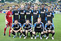 San Jose Earthquakes Starting Eleven. The San Jose Earthquakes defeated the Philadelphia Unioin 1-0 at Buck Shaw Stadium in Santa Clara, California on September 15th, 2010.