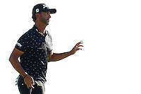 Scott Piercy reacts following his putt on the third green during the 2016 U.S. Open in Oakmont, Pennsylvania on June 17, 2016. (Photo by Jared Wickerham / DKPS)