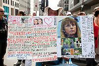 Jean-Denis lejeune, Laetitia Delhez, Paul Marchal - Protest march for a reform of the justice system