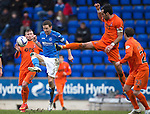 St Johnstone v Kilmarnock.....28.02.15<br /> Manuel Pascali tackles Steven MacLean<br /> Picture by Graeme Hart.<br /> Copyright Perthshire Picture Agency<br /> Tel: 01738 623350  Mobile: 07990 594431