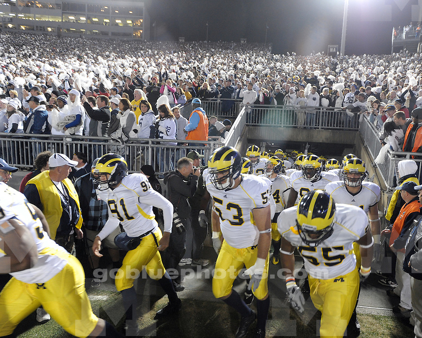 University of Michigan football 41-31 loss to Penn State University at Beaver Stadium in State College, PA, on October 30, 2010.