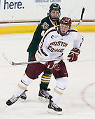 Nick Bruneteau (UVM - 4), Patrick Brown (BC - 23) - The Boston College Eagles defeated the University of Vermont Catamounts 4-1 on Friday, February 1, 2013, at Kelley Rink in Conte Forum in Chestnut Hill, Massachusetts.