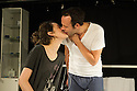 London, UK. 05.12.2012. MYDIDAE, by Jack Thorne opens at Soho Theatre. Picture shows: Keir Charles and Phoebe Waller-Bridge. Photo credit: Jane Hobson.