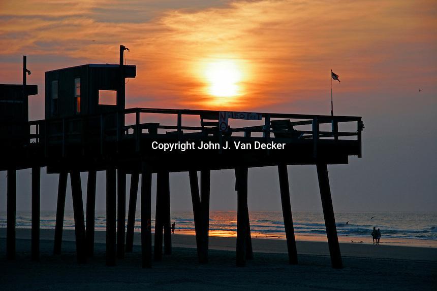 Sunrise john van decker photography for Fishing wildwood nj