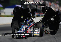 May 5, 2012; Commerce, GA, USA: NHRA top fuel dragster driver Bruce Litton during qualifying for the Southern Nationals at Atlanta Dragway. Mandatory Credit: Mark J. Rebilas-