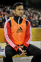 Carlos Ruiz of D.C. United during the presentation of the team.  D.C. United defeated Real Salt Lake 1-0 in their home opener, at RFK Stadium, Saturday March 9,2013.